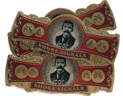 Custom Design Cigar Bands for Smoke Signals Cigar Shop