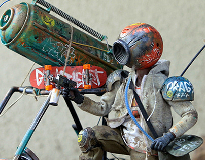 GRAFFITI BASTARDS - 1/6 action figure & Buggy customs