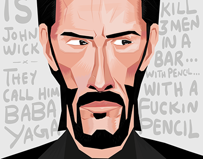 Jhon wick - Keanu Reeves Illustration