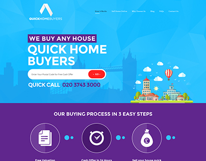 Quick Home Buyers, Branding, Web Design...