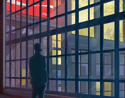 Midtown Watcher Illustration