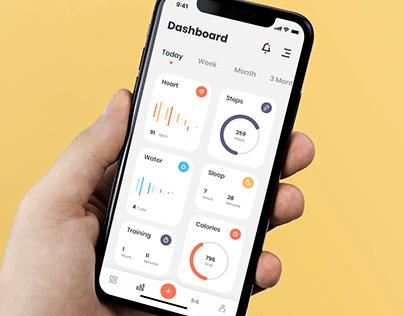 Fitness Mobile Application Motion Design