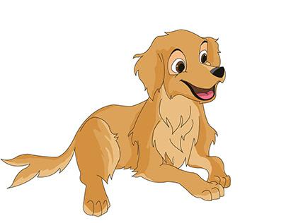 DISNEY STYLE DOG -RETRIEVER