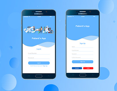 Mobile App Log in And Sign Up