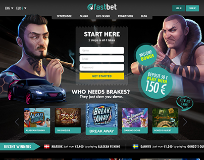 CASINO WEBSITE DESIGN & DIRECTION FOR FASTBET