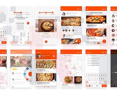 Pizza Order Mobile App UI Design