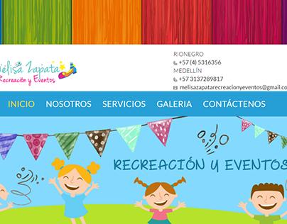 Sitio Web: Meliza Zapata Eventos