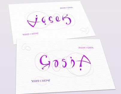 Jacek/Gosia ambigram