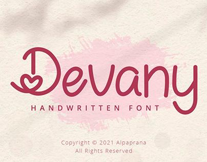 Devany - Handwritten Font