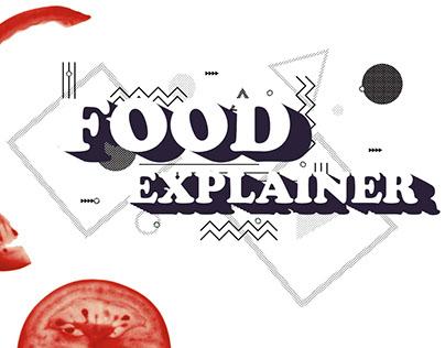 Food Explainer • Pre-vis and design