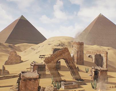 Game level Egypt inspired