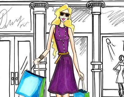 Fashion Illustration by Brittany Morganti