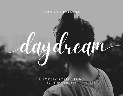 daydream - a lovely script font