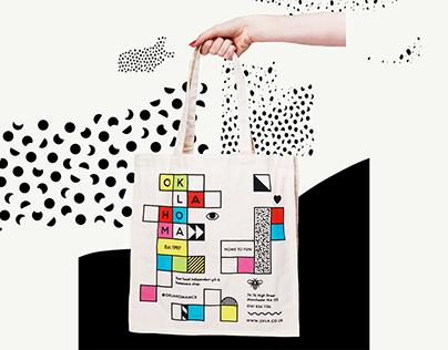oklahoma, UK: tote bag design