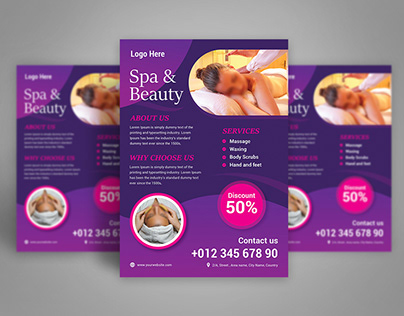 Beauty and Spa Flyer Design