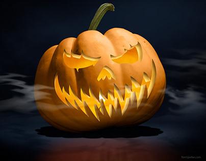Jack-o-lantern Photo Illustration