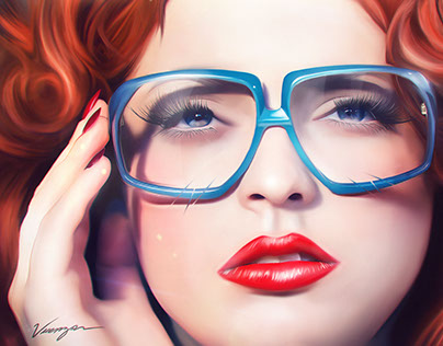 Glasses blue red | Personal Artwork
