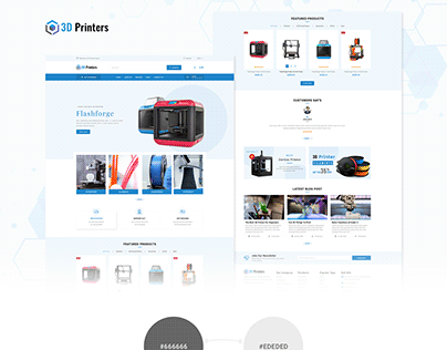 3D Printer - E commerce Frontpage