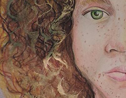 Portrait (Freckled prismacolors)