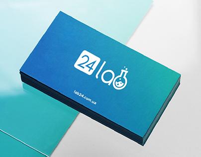 "Laboratory online ""Lab24"" – logotype, web design"