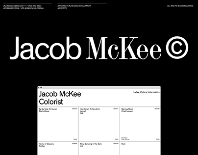 Jacob Mckee, Colorist