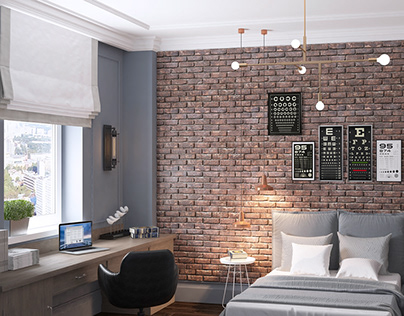 American classic. The interior design of the apartment.