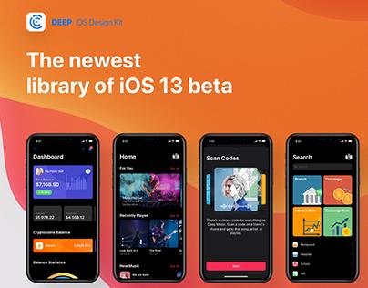 Deep iOS 13 UI Kit Beta