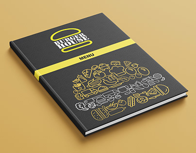 Burger House Restaurant Menu Design