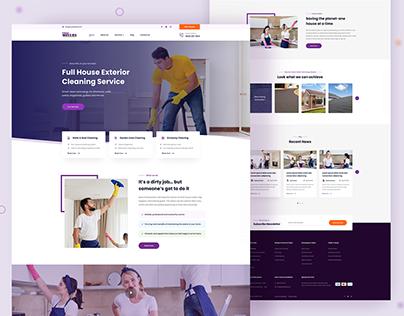 Purple Wellies - Cleaning Service Website Design