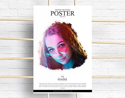 Modern Branding Advertising Poster Mockup Free