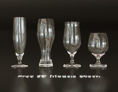 Beer Glasses Free 3D Model