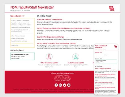 NSM Faculty/Staff Newsletter Website & Email Newsletter