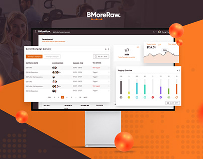 BMore Raw | Telemarketing SaaS Ui / Ux Design