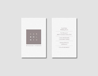 Carlo Boni Wedding Stories · Identity and website.