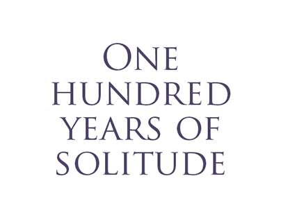 One hundred years of solitude - Book cover