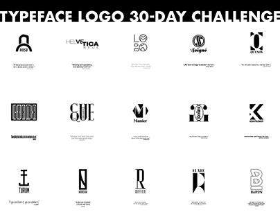 Typeface Logo 30-Day Poster #2