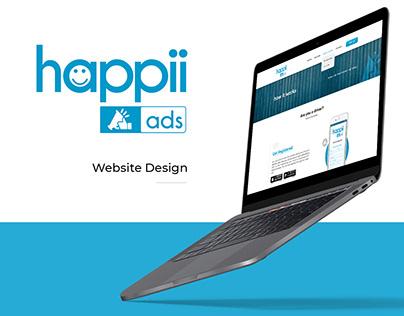 Website UI Design - Happii Ads - Advertising Agency