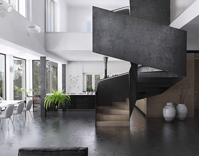 Interior of single-family house in Katowice