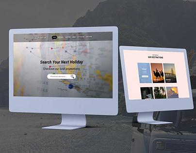 Travel web page design.