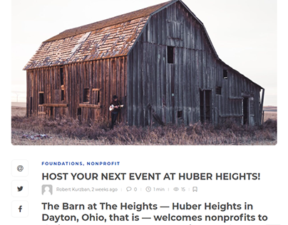 HOST YOUR NEXT EVENT AT HUBER HEIGHTS!