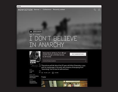 Nonfiction.film Streaming Platform Website