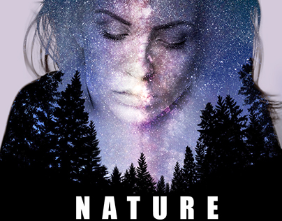 Nature Double Exposure Poster