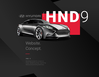 Hyundai Car Website Concept