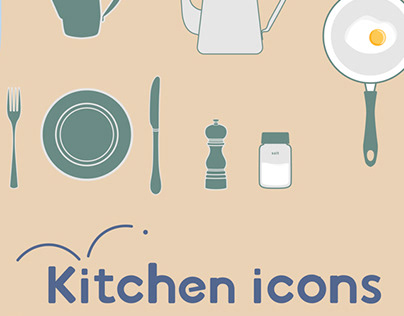 stock collections -Kitchen icons-