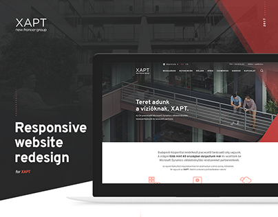XAPT responsive website redesign