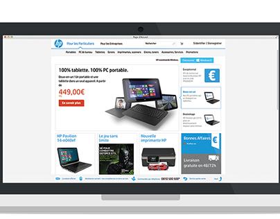 Redesign of hp.com
