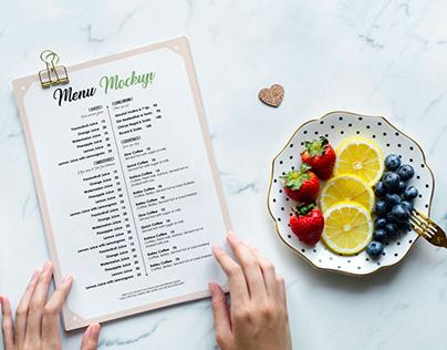 Free Restaurant Menu / Flyer Mockup PSD