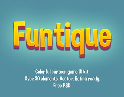 """Funtique"" - game UI kit - free PSD"