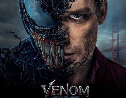 Reproduction de l'affiche du film Venom avec Dexter
