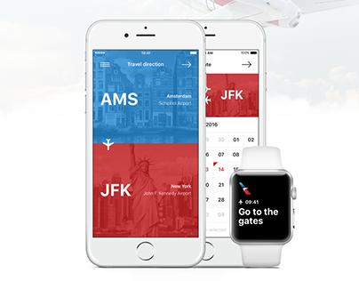 American Airlines app design